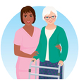 African American nurse and her patient vector image vector image