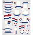 Netherlands flag decoration elements vector image