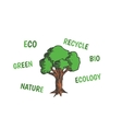 Colored of tree with eco vector image