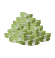 Stack of Money Flat Design vector image