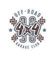 Off road racing emblem in retro style vector image