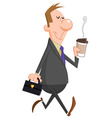 Businessman coffee vector image