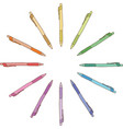 Colour pen vector image