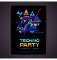 Disco poster Abstract triangle background vector image