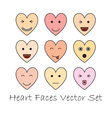 emotional heart faces vector image