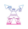 Native american indian teepee home with crossed vector image