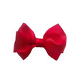 red bow out of satin ribbon decorative bowknot vector image