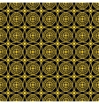 Seamless golden pattern vector image