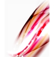 Shiny blurred line waves vector image