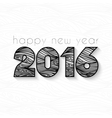 sign for a new 2016 of fancy elegant vector image