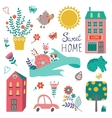 Cute home sweet home collection vector image vector image