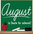 August School vector image