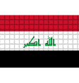 The mosaic flag of Iraq vector image