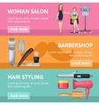 Beauty Salon Banners Set vector image