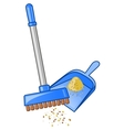 Broom and dustpan vector image