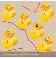 emotions dollar icon set vector image