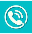 Flat Phone Icon vector image