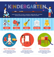 Kindergarten Infographic Set vector image