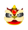 lion dance cartoon head chinese graphic vector image
