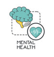 mental health design vector image