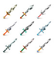 Original swords icons set vector image