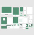 set in modern flat design of corporate style vector image