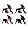 Wrestler pulling opponents uniform vector image