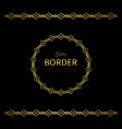 golden geometrical border and circle frame vector image