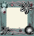 frame of lace with many elements vector image