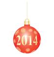 red Christmas ball vector image vector image