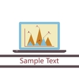 Laptop with chart vector image