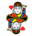 Stylized King of Hearts no card vector image vector image