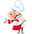 Friendly chef vector image