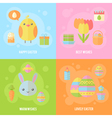Colorful spring Easter flat banners set vector image vector image