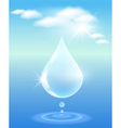 symbol of clean water vector image vector image