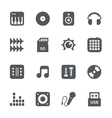 DJ equipment icon set