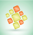 Abstract cubes with place for text vector image