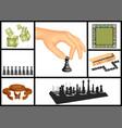 board games set vector image