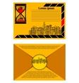 brochure with urban landscape envelope vector image