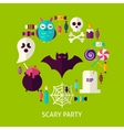 Scary Party Greeting Card vector image