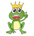 King Cartoon Frog vector image vector image