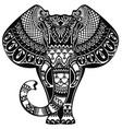 tattoo elephant vector image vector image