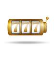 lucky seven on slot machine gold slot machine vector image