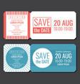 save the date minimalist invitation ticket vector image vector image