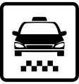 black taxi car vector image vector image