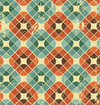 Vintage tiles with grunge texture seamless vector image vector image