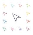 arrow cursor flat icons set vector image