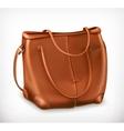 Leather handbag icon vector image vector image
