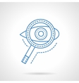 Search blue flat line icon vector image