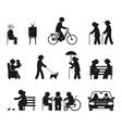 Elderly leisure activities vector image